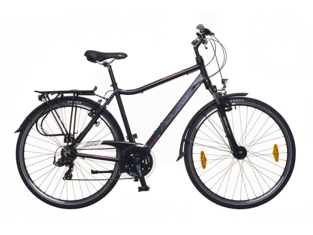 NEUZER Ravenna 100 férfi trekking kerékpár, fekete / bordó-szürke (matt)