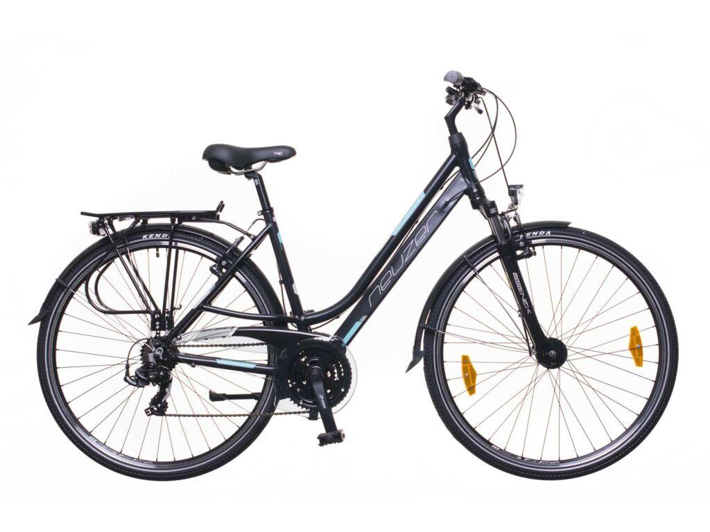 NEUZER Ravenna 100 női trekking kerékpár, fekete / türkiz-szürke (matt)