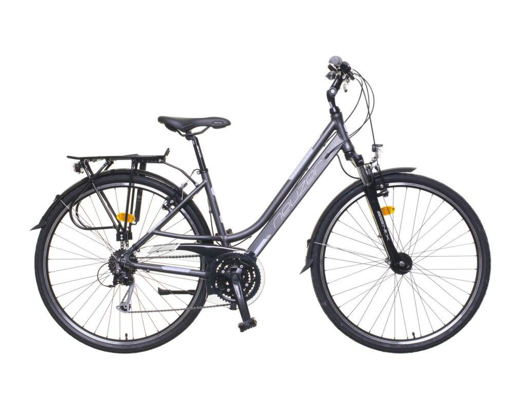 NEUZER Ravenna 200 női trekking kerékpár, matt antracitszürke / púderlila
