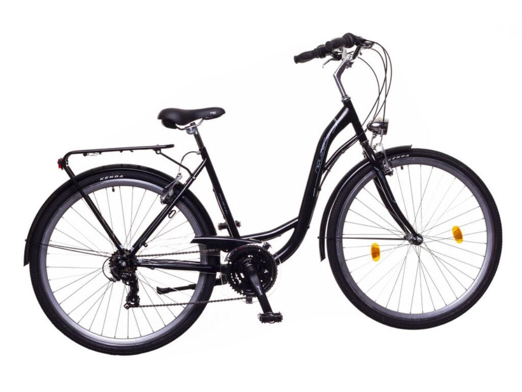 NEUZER Ravenna 30 női trekking kerékpár, fekete / kék-szürke