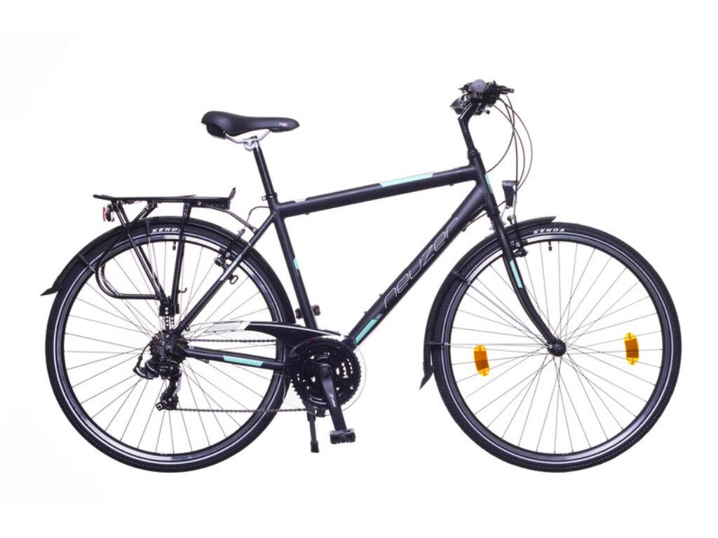 NEUZER Ravenna 50 férfi trekking kerékpár, fekete / türkiz-szürke (matt)