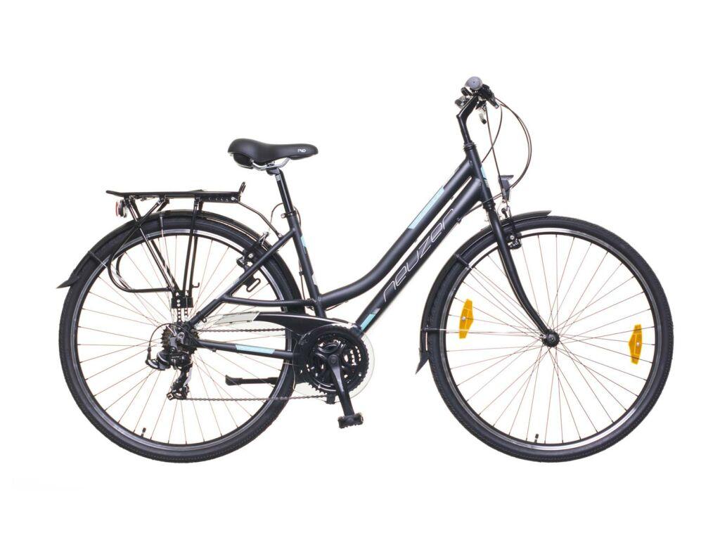 NEUZER Ravenna 50 női trekking kerékpár, fekete / türkiz-szürke (matt)