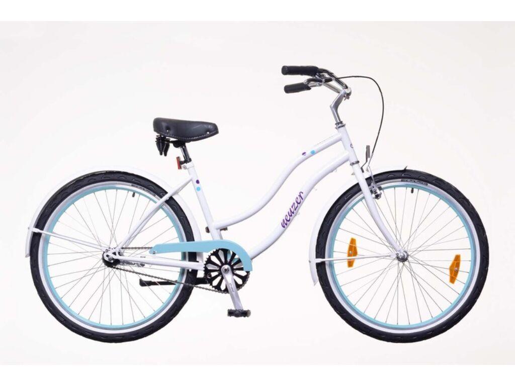 NEUZER Sunset női városi / cruiser kerékpár, fehér / pöttyös