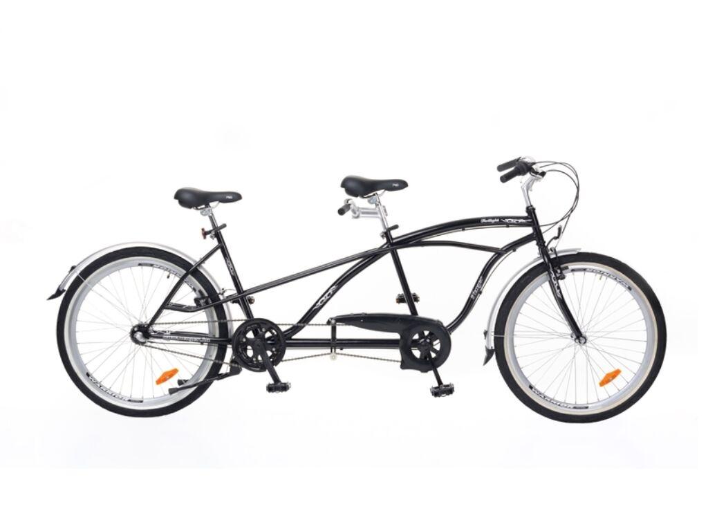 NEUZER Twilight tandem kerékpár, fekete / ezüst
