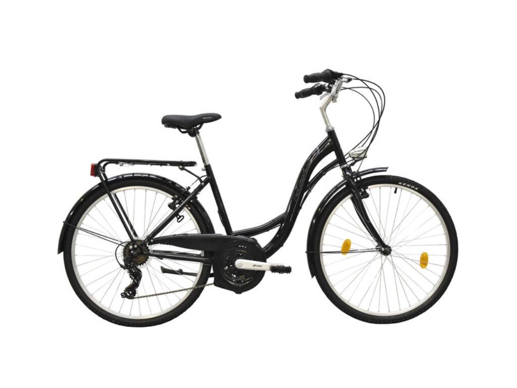 NEUZER Venezia 30 női trekking kerékpár, fekete / kék-szürke