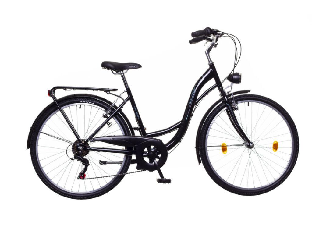NEUZER Venezia 6 női városi kerékpár, fekete / kék-szürke
