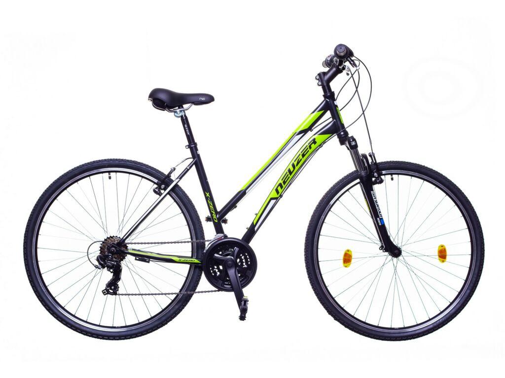 NEUZER X-Zero női cross kerékpár, fekete / zöld-fehér