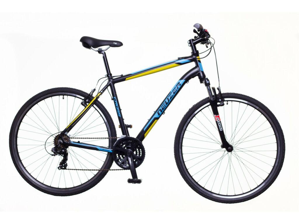 NEUZER X100 férfi cross kerékpár, fekete / kék-sárga