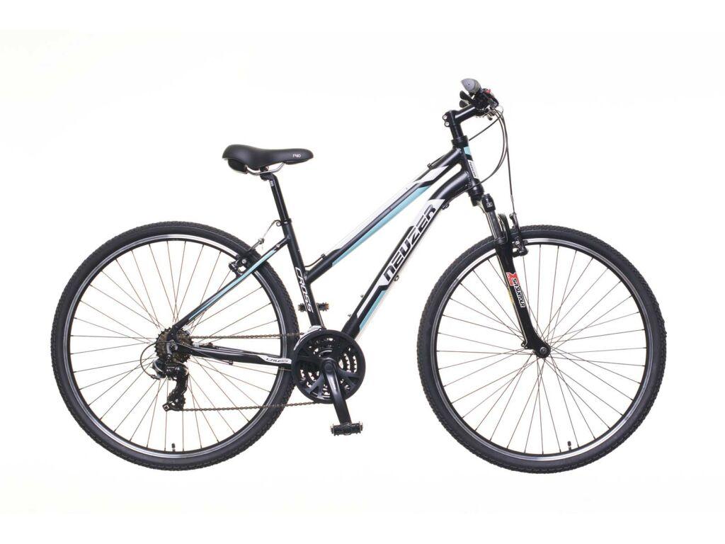 NEUZER X100 női cross kerékpár, fekete / fehér-kék