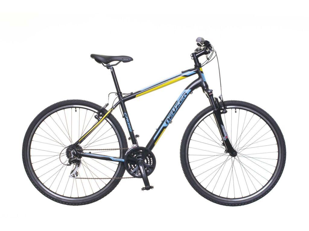 NEUZER X200 férfi cross kerékpár, fekete / kék-sárga