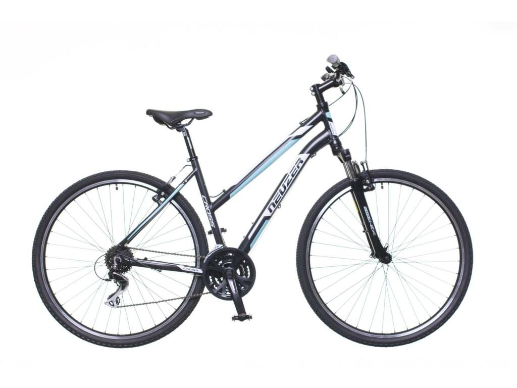 NEUZER X200 női cross kerékpár, fekete / fehér-kék