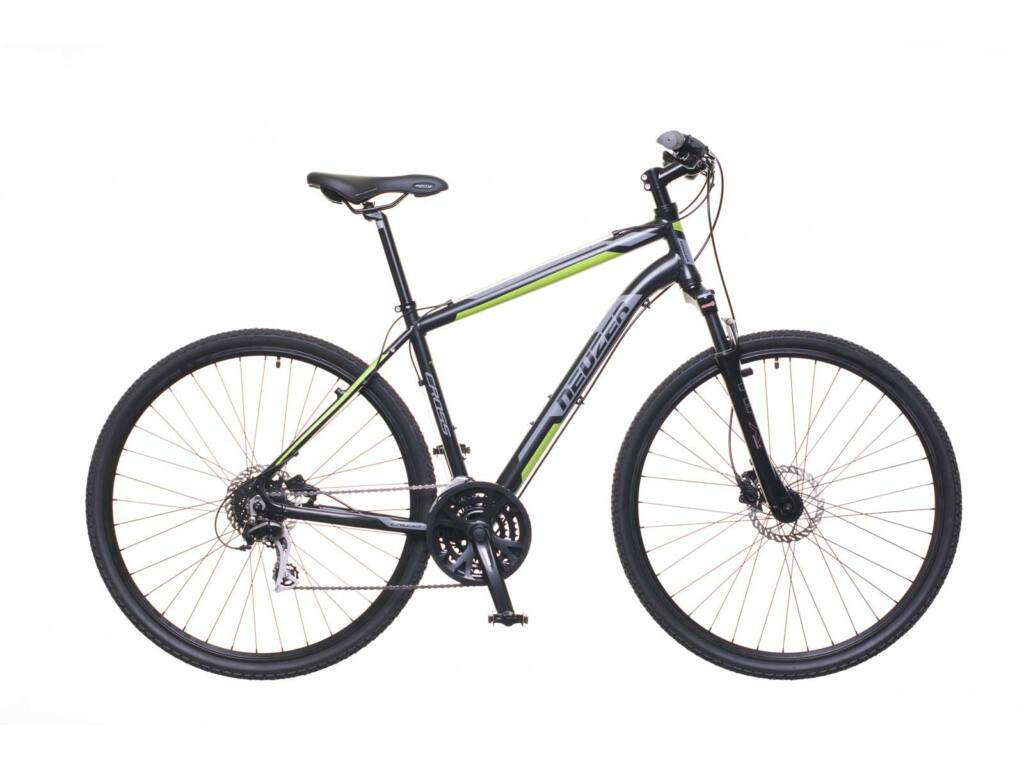 NEUZER X300 férfi cross kerékpár, fekete / zöld-szürke