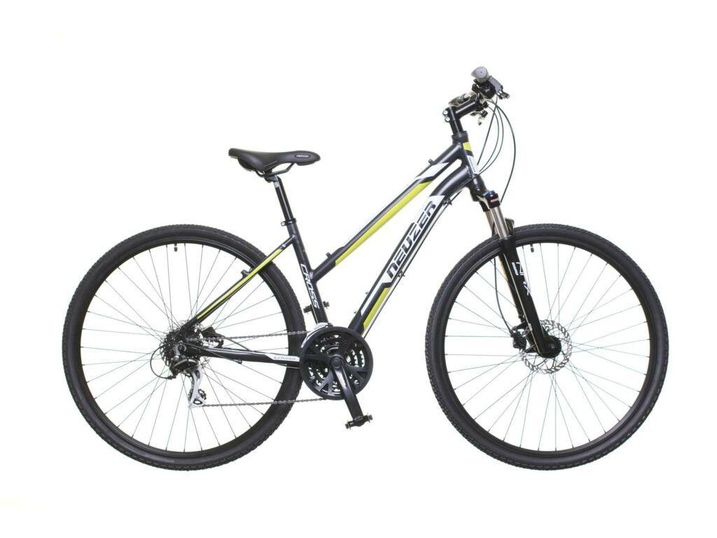 NEUZER X300 női cross kerékpár, fekete / fehér-zöld
