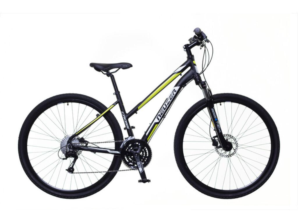 NEUZER X400 női cross kerékpár, fekete / fehér-zöld