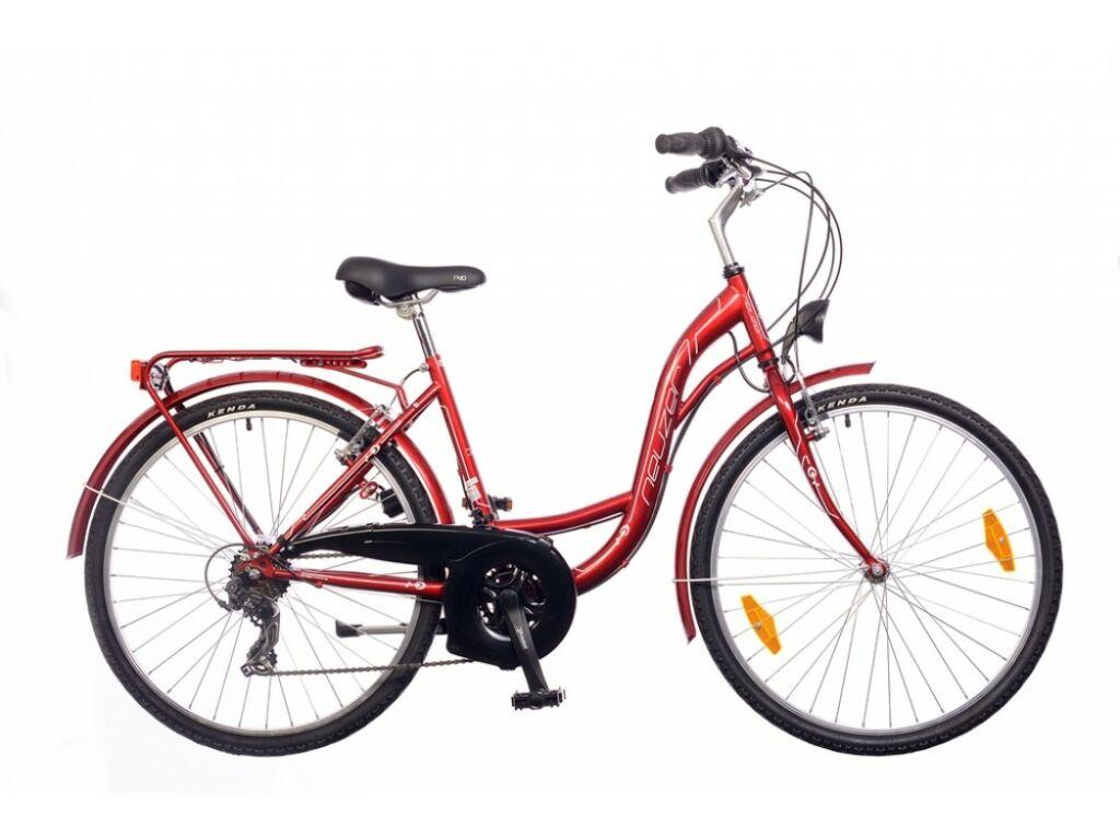 NEUZER Venezia 30 női trekking kerékpár, bordó / fehér-rózsaszín