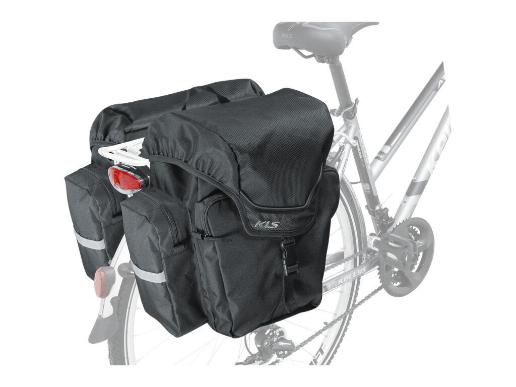 KLS Adventure 40 csomagtartó táska vízálló huzattal, 40liter