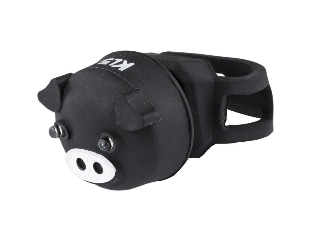 KLS Piggy hátsó lámpa, elemes, Black