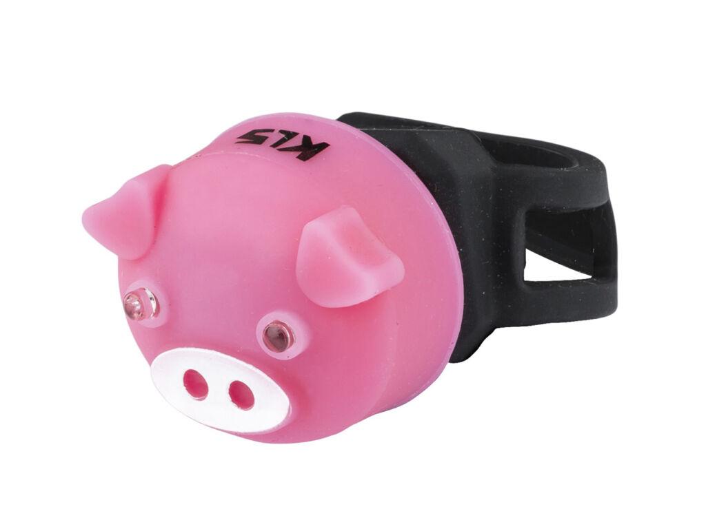 KLS Piggy hátsó lámpa, elemes, Pink