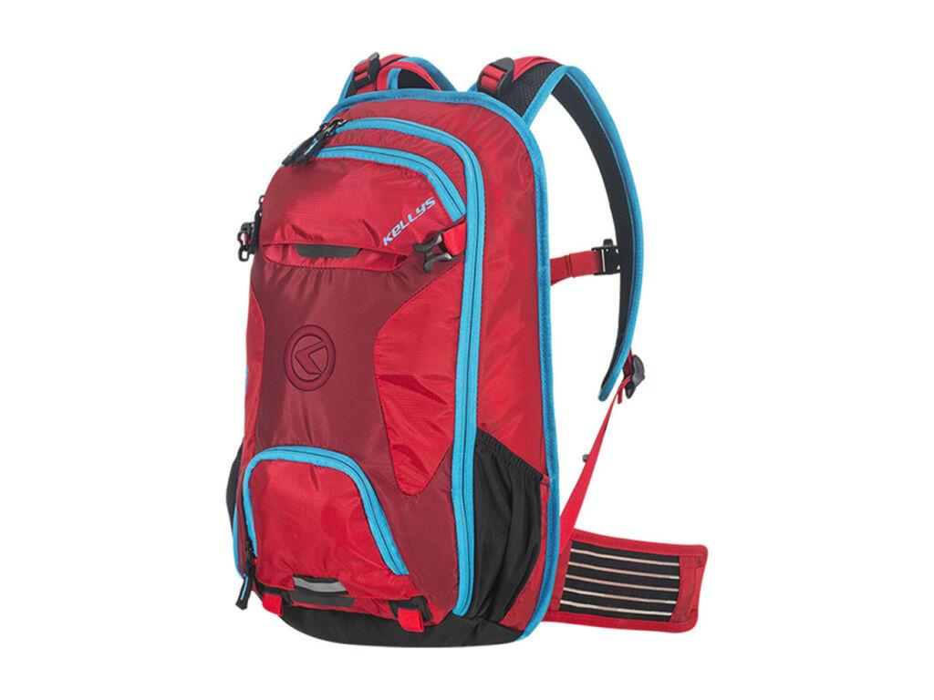 KELLYS LANE 10 hátizsák vízálló huzattal, piros
