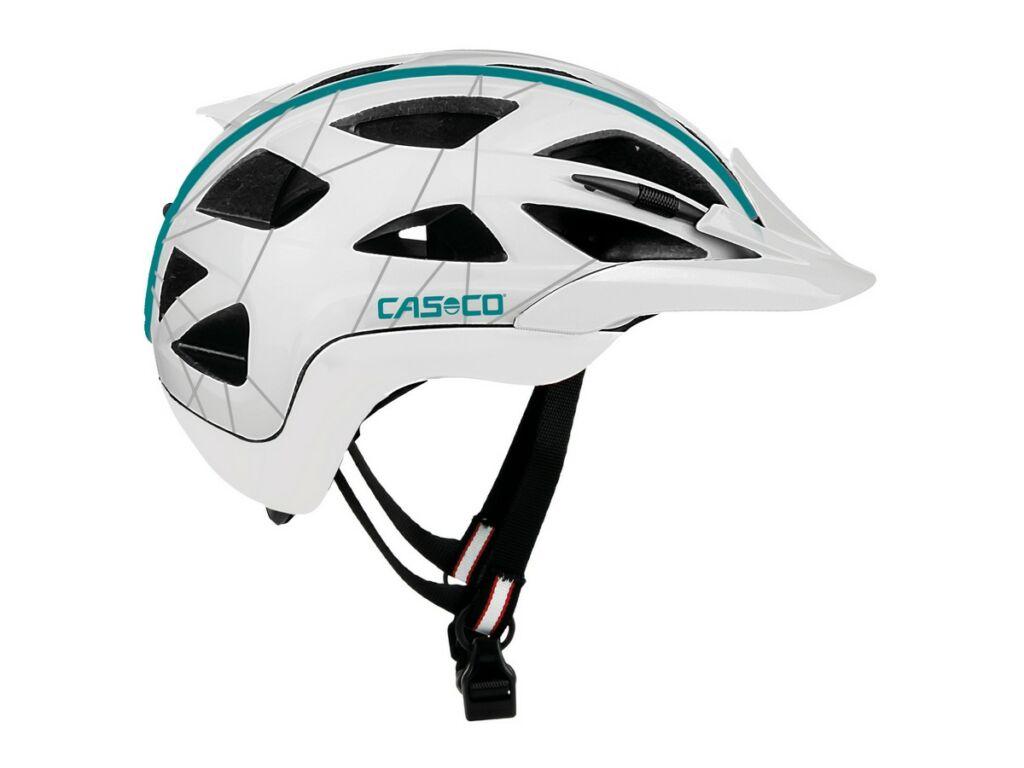CASCO Activ2 Femme női kerékpáros sisak, white-turqouise shiny