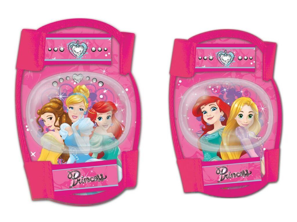 Gyermek térd- és könyökvédő szett, Disney hercegnős, pink