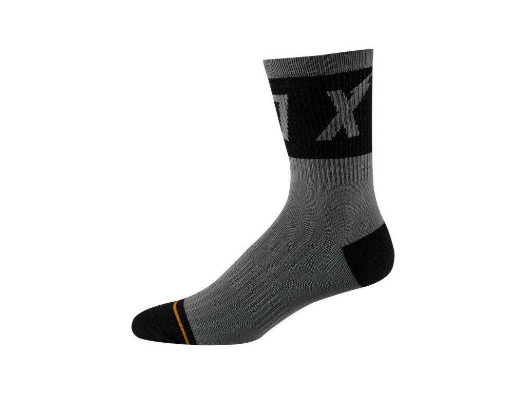 FOX 8' Trail Cushion Sock kerékpáros zokni, Black