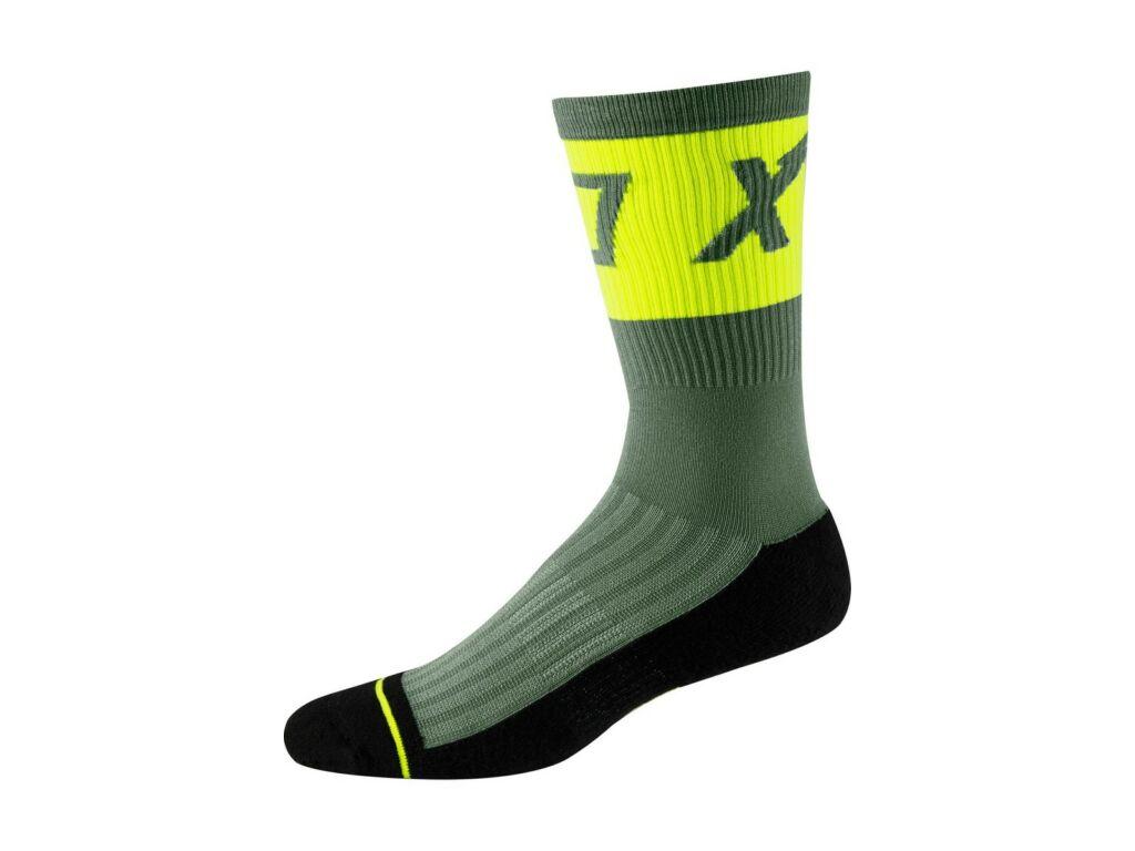 FOX 8' Trail Cushion Sock kerékpáros zokni, Pine