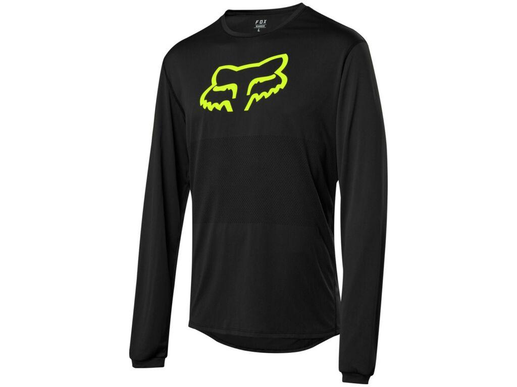 FOX Ranger Long Sleeve Foxhead Jersey hosszú ujjú kerékpáros mez - Black