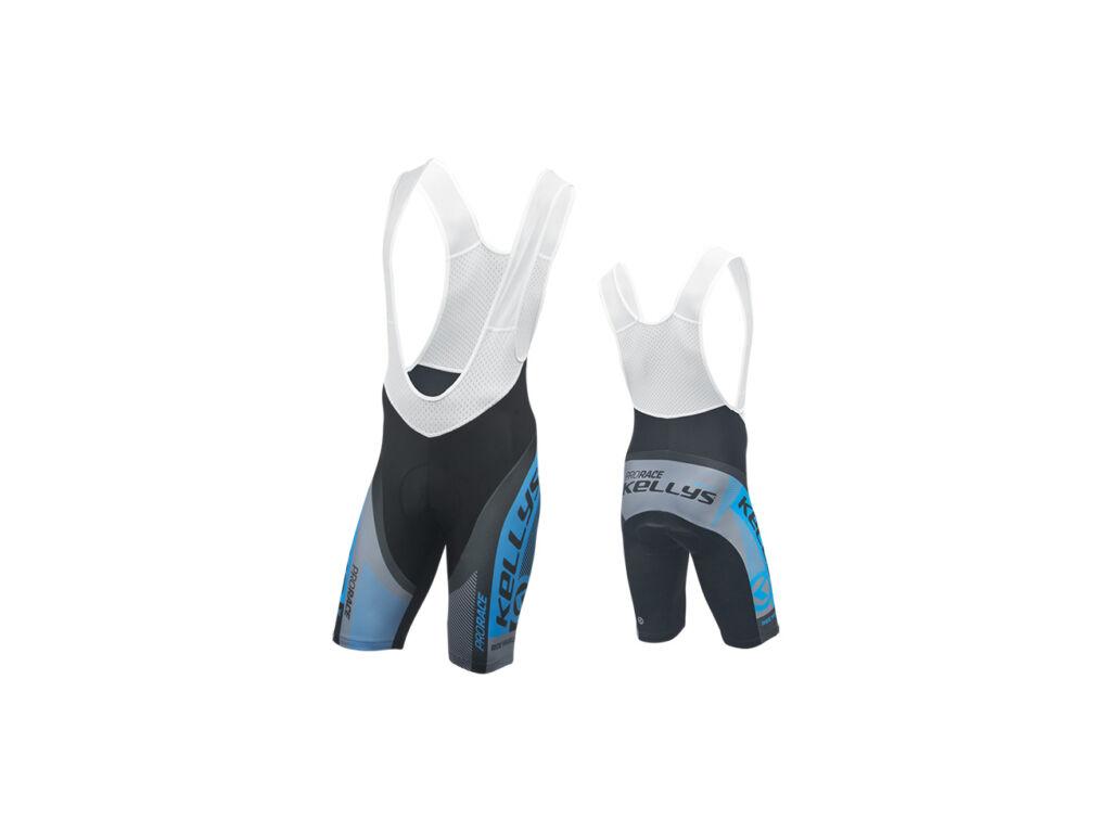 KELLYS PRO Race kantáros rövidnadrág, fekete-kék