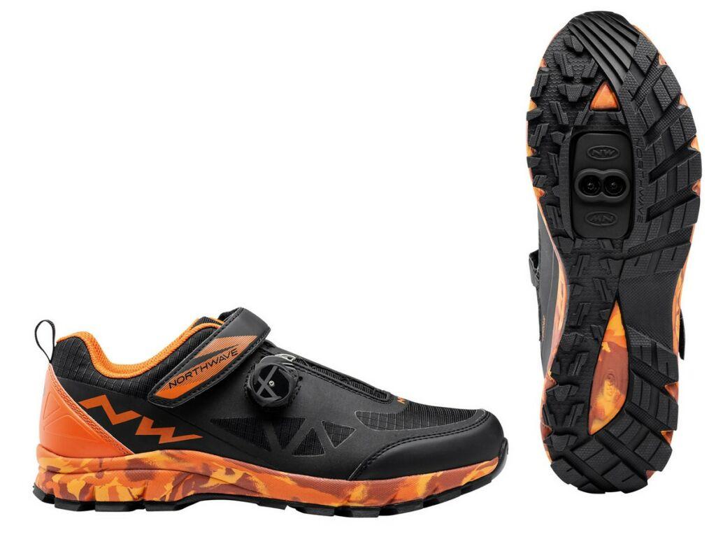 NORTHWAVE All Terrain Corsair kerékpáros cipő - fekete/narancs