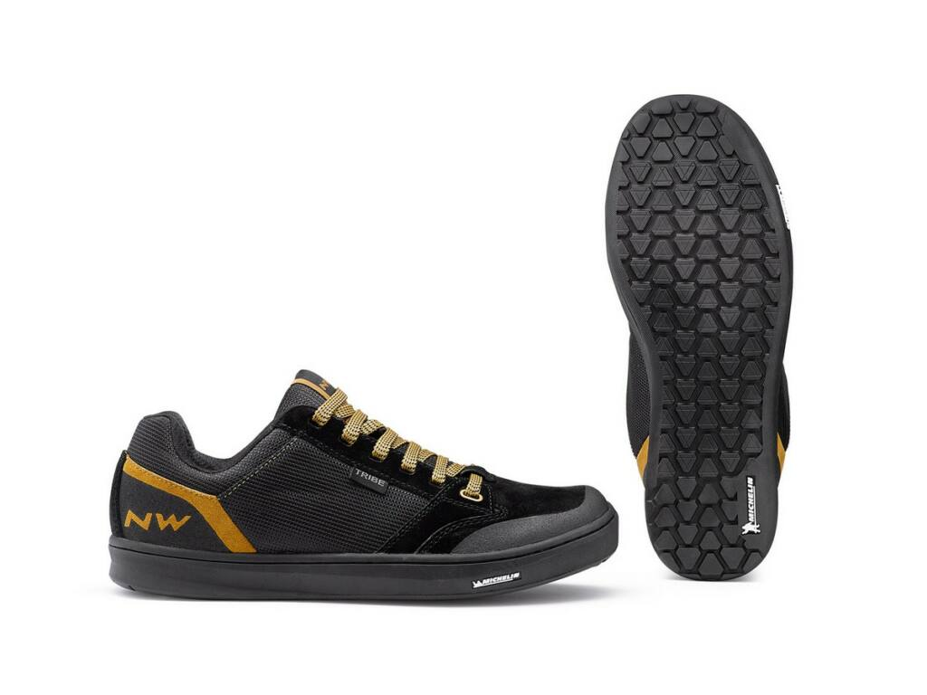 NORTHWAVE Flat Tribe kerékpáros cipő taposópedálhoz - fekete/homok
