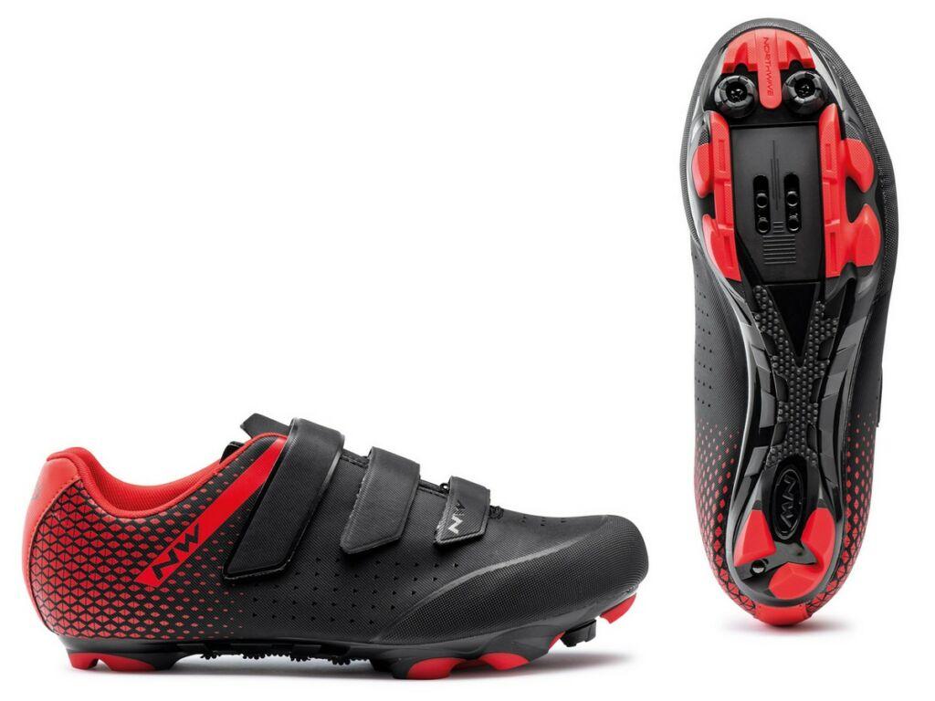 NORTHWAVE MTB Origin 2 kerékpáros cipő - fekete/piros