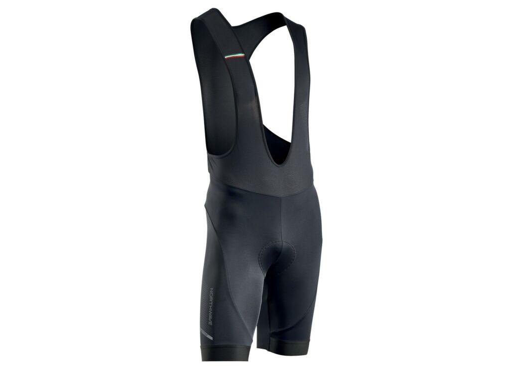 NORTHWAVE Active Gel rövid, kantáros kerékpáros nadrág, fekete