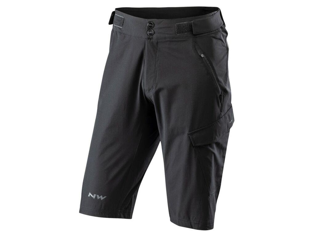 NORTHWAVE Edge Baggy rövid kerékpáros nadrág betét nélkül, fekete