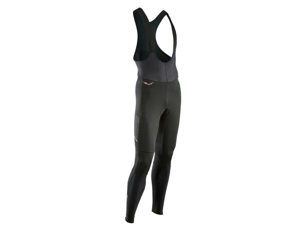 NORTHWAVE Fast SP hosszú, kantáros téli kerékpáros nadrág, fekete