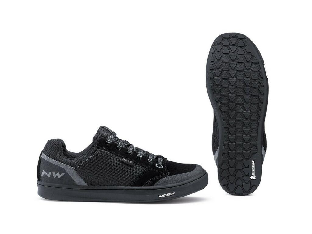 NORTHWAVE Flat Tribe kerékpáros cipő taposópedálhoz, fekete, 47