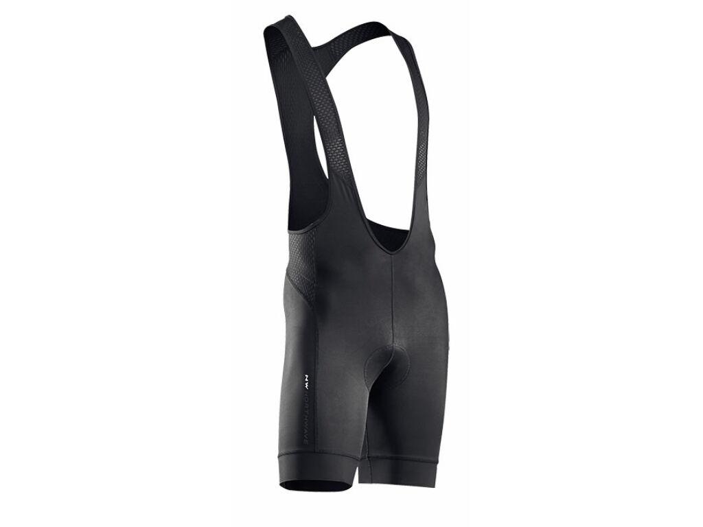 NORTHWAVE Force2 rövid, kantáros kerékpáros nadrág, fekete