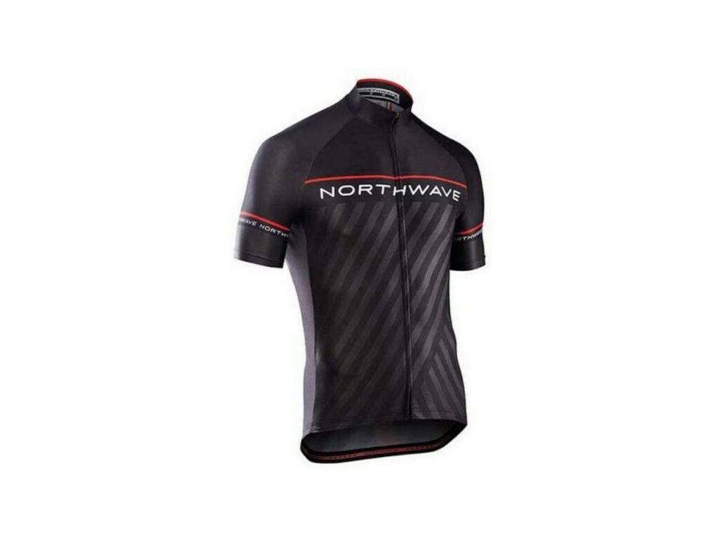 NORTHWAVE Logo3 rövidujjú mez, fekete/piros