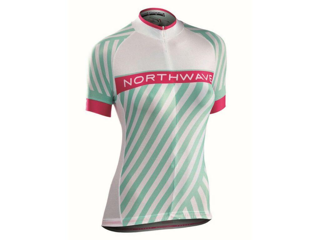 NORTHWAVE Logo3 WMN női rövidujjú mez, fehér/zöld