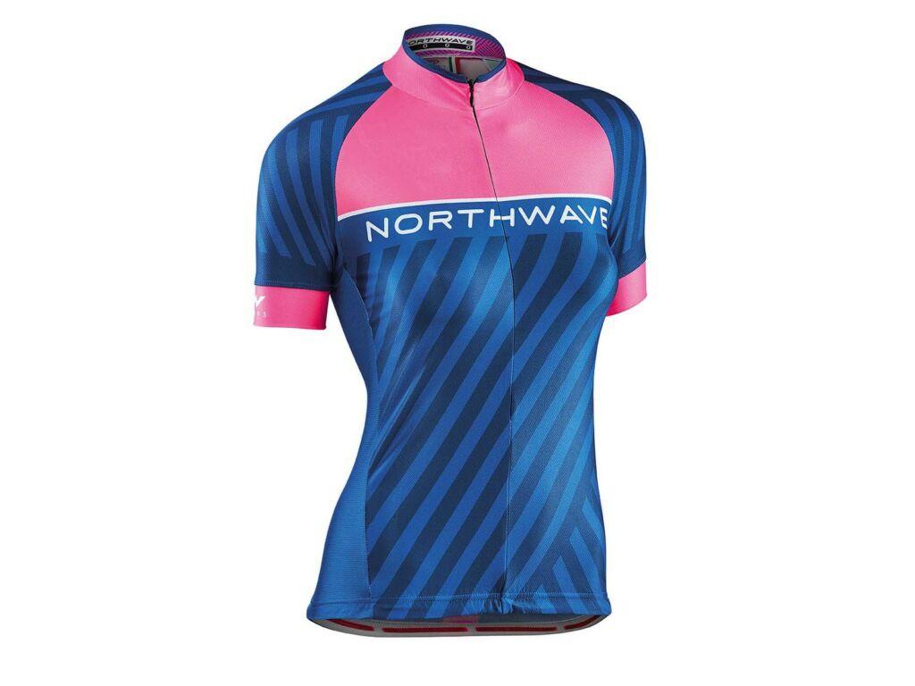 NORTHWAVE Logo3 WMN női rövidujjú mez, pink fluo/kék