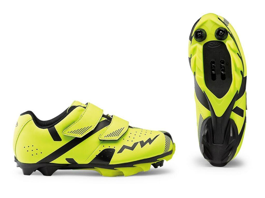 NORTHWAVE MTB Hammer 2 Junior kerékpáros cipő, fluo sárga / fekete