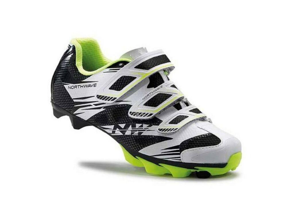 NORTHWAVE MTB Katana 2 3S WMN női kerékpáros cipő, fehér/fekete/sárga fluo