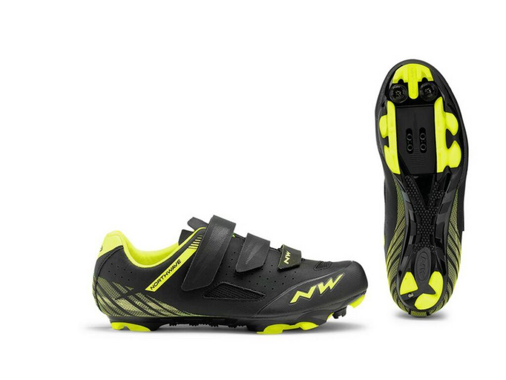 NORTHWAVE MTB Origin kerékpáros cipő, fekete/fluo sárga
