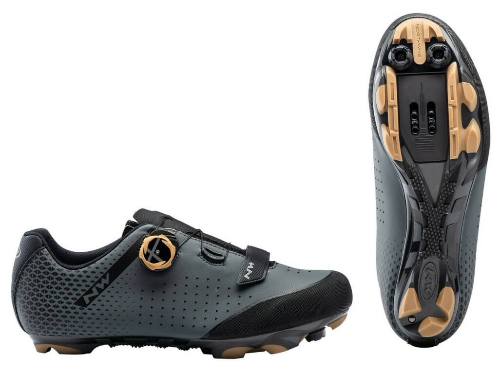 NORTHWAVE MTB Origin Plus 2 kerékpáros cipő, antracit/méz