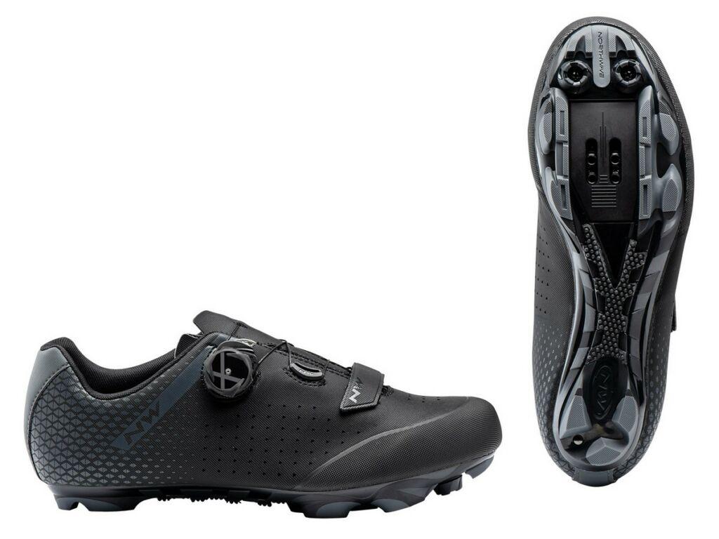 NORTHWAVE MTB Origin Plus 2 Wide Fit kerékpáros cipő - fekete/antracit