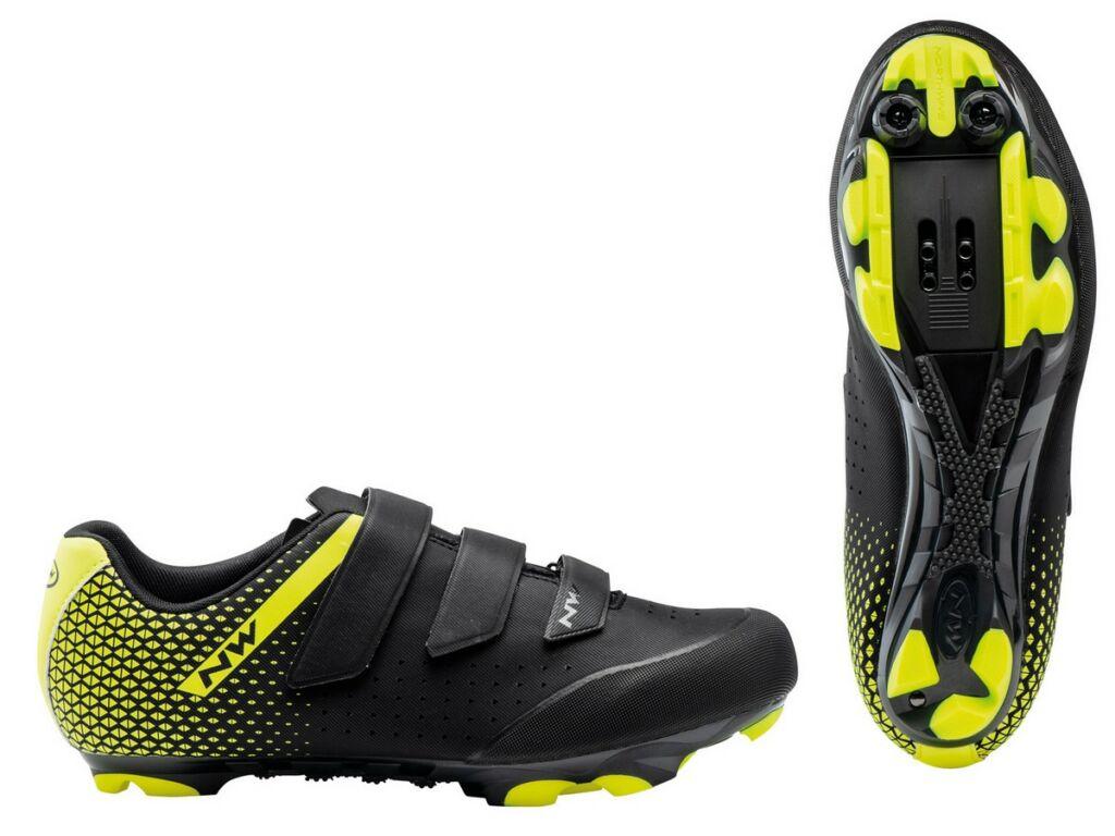 NORTHWAVE MTB Origin Plus 2 kerékpáros cipő, fekete/fluo sárga