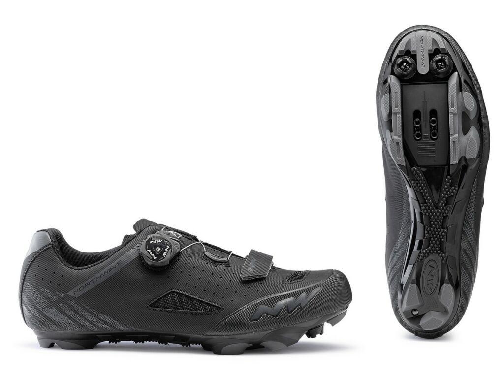 NORTHWAVE MTB Origin Plus Wide Fit kerékpáros cipő, szélesített, fekete
