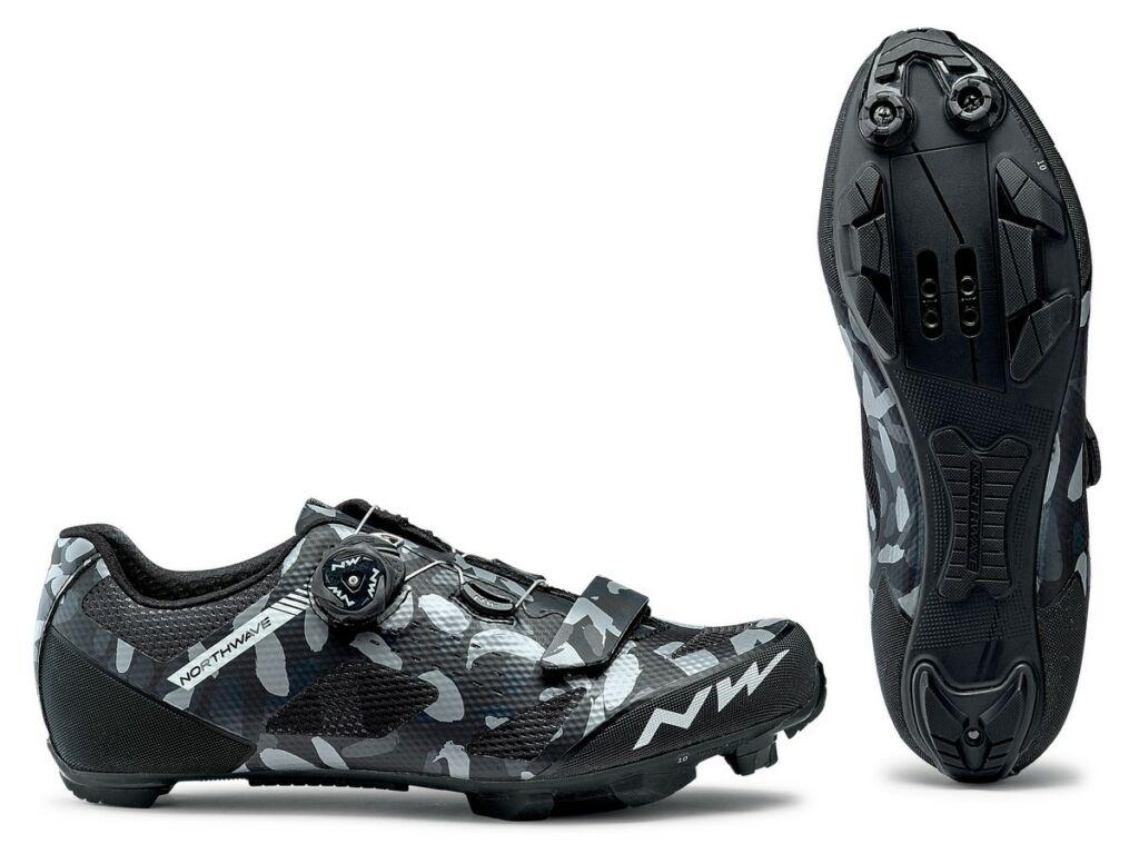 NORTHWAVE MTB Razer kerékpáros cipő, camo fekete