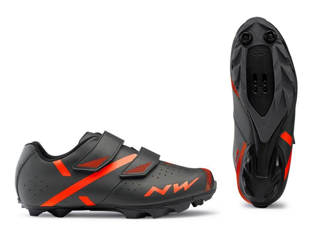 NORTHWAVE MTB Spike 2 kerékpáros cipő, szürke-narancs