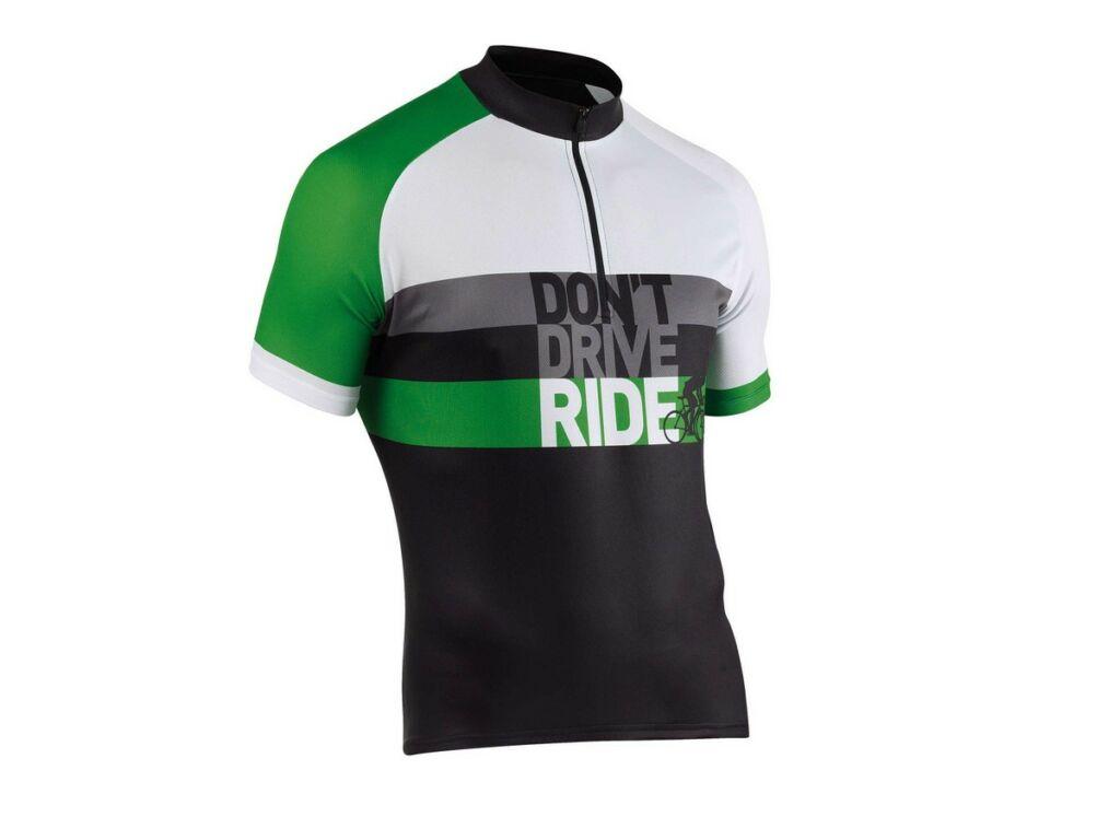 NORTHWAVE Re-Cyclist rövidujjú mez, fekete/fehér/zöld